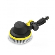 Rotating wash brush with joint