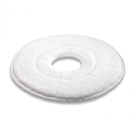 Microfibre pad, microfibre, White, 410 mm
